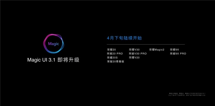 Honor announces Magic UI 3.1 upgrade plan - cnTechPost