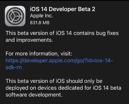 Apple releases iOS 14 and iPadOS 14 beta 2-cnTechPost
