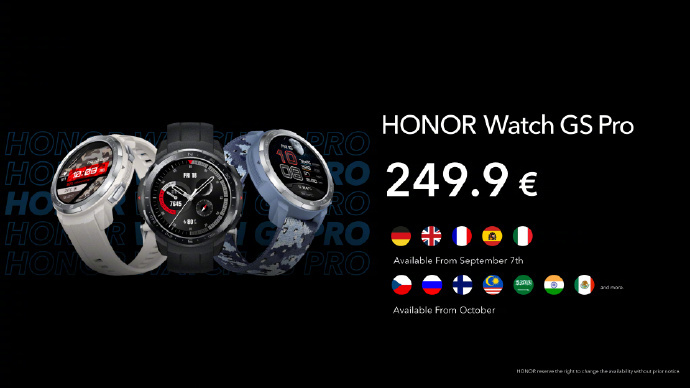 Honor launches GS Pro and ES smartwatches in Germany-cnTechPost