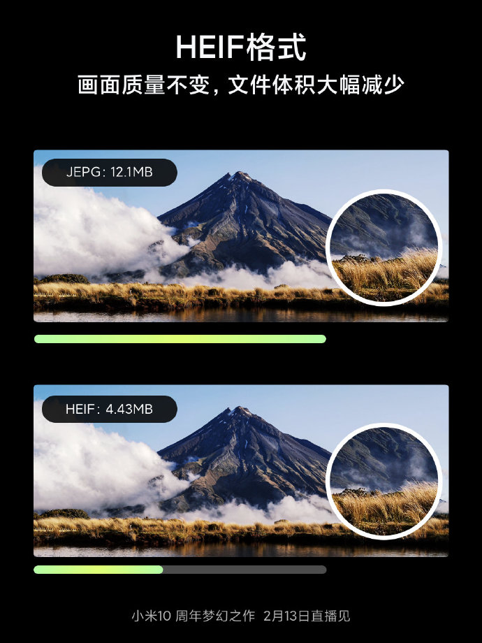 Xiaomi 10 supports HEIF image format that can reduce file size by 50%-cnTechPost