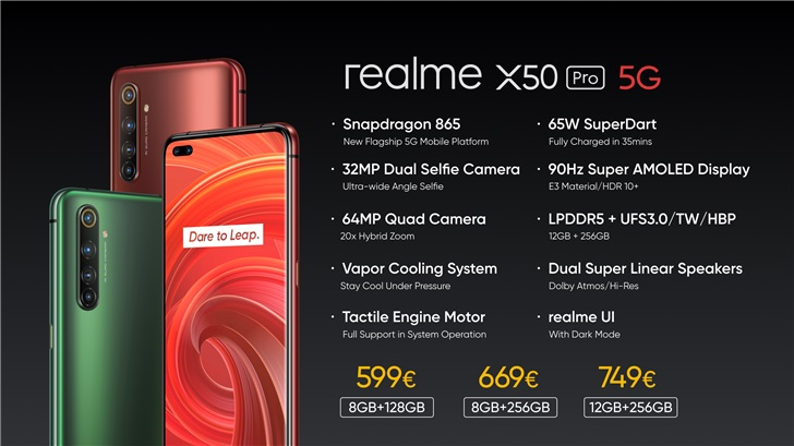 Realme X50 Pro 5G released, starting at 599 euros-cnTechPost